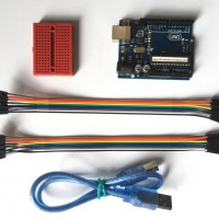 Arduino UNO R3 + Protoboard Mini + 20 Jumper + USB Cable