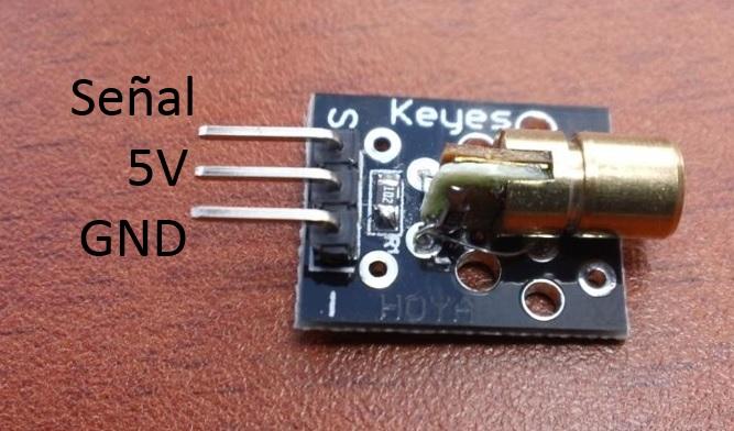 Modulo Laser 5V para Arduino, PIC, Raspberry Pi…