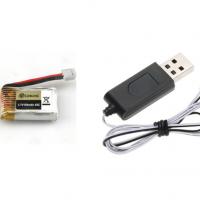 Bateria 3,7V + USB de carga
