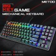 Teclado Gamer Mecánico Metoo Z56 89% Red Switch/RGB